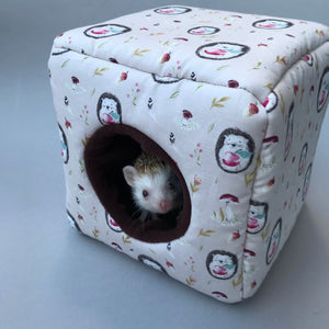 Apple hedgehog cosy cube house. Hedgehog and guinea pig cube house.
