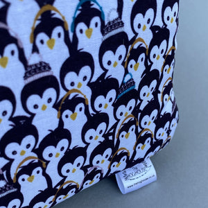 Winter penguin cosy cube house. Hedgehog and guinea pig padded fleece lined house