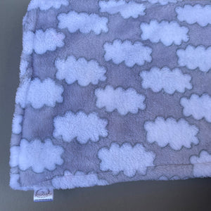 Clouds cuddle fleece handling blankets for hedgehogs and small pets.