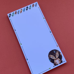 Hedgehog notepad. 100 Sheets. DL 105 x 210mm