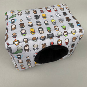 LARGE Far Away Galaxy cosy bed for guinea pigs. Padded house for guinea pigs.
