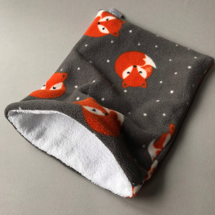 Foxy bath sack. Post bath drying pouch for pygmy hedgehog, guinea pig, rat and small animals.