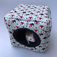 Load image into Gallery viewer, Dapper Mr Fox full cage set. Cube house, snuggle sack, tunnel cage set.