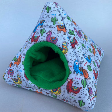 Drama Llama tent house. Hedgehog and small pet house. Padded fleece lined house.