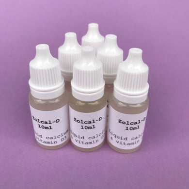 10ml Zolcal-D liquid calcium and vitamin D3 veterinary support