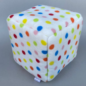 Polka Dot cosy cube house. Hedgehog and guinea pig padded fleece lined house.