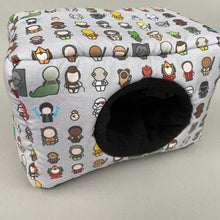 Load image into Gallery viewer, LARGE Far Away Galaxy cosy bed for guinea pigs. Padded house for guinea pigs.