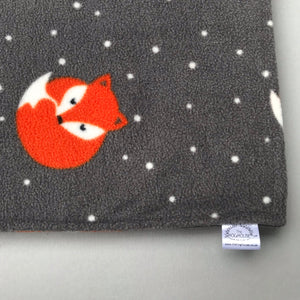 Custom size Foxy fleece cage liners made to measure - Grey with fox fleece