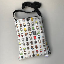 Load image into Gallery viewer, Far away galaxy padded bonding bag, carry bag for hedgehogs. Fleece lined.