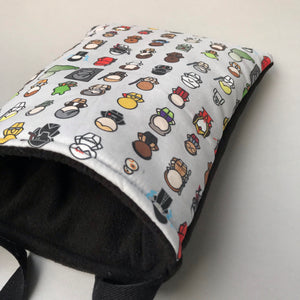 Far away galaxy padded bonding bag, carry bag for hedgehogs. Fleece lined.