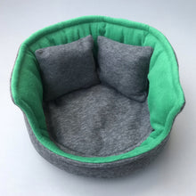 Load image into Gallery viewer, Large cuddle cup. Pet sofa for guinea pigs. Fleece sofa bed.