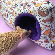 Load image into Gallery viewer, Magical wizard corner house. Hedgehog and small pet cube house. Padded fleece lined house.
