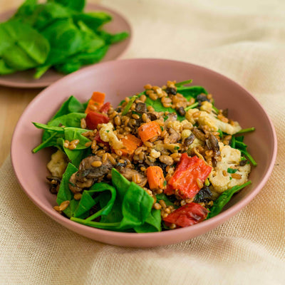 Fresh Sprout Meals Lunch & Dinner Spinach & Vegetable Farro Rissoto