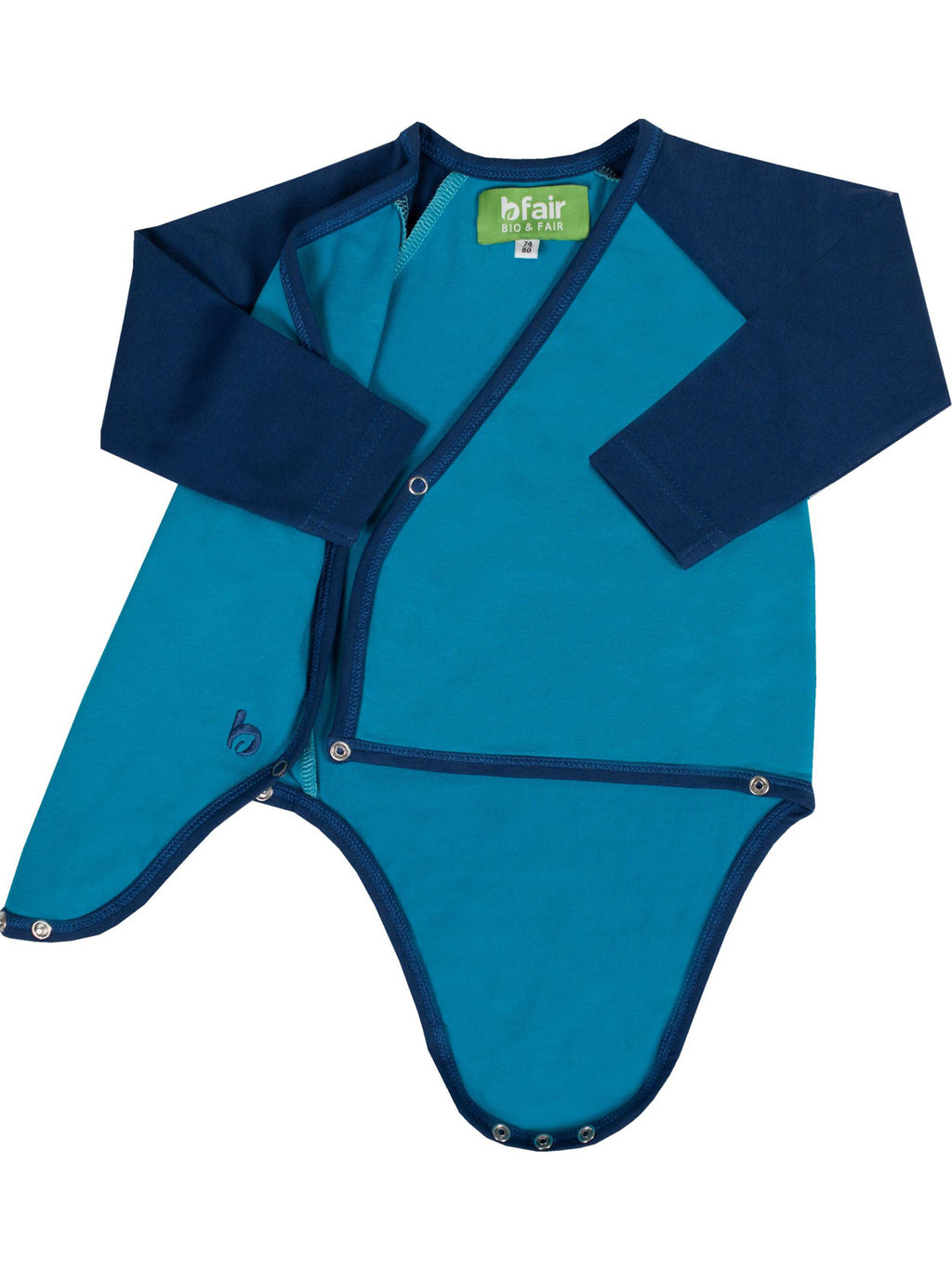 b.warm. Langarm Bio-Baby-Body Barrierriff