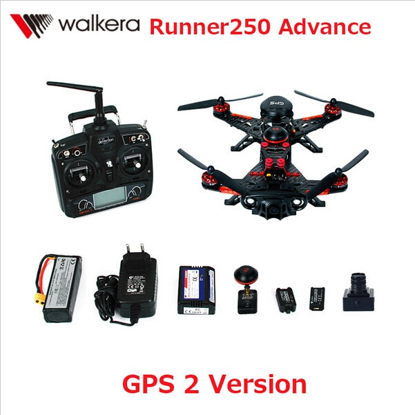 F16181 Walkera Runner 250 Advance with 1080P Camera Racer RC Drone Quadcopter RTF with DEVO 7 / OSD / Camera GPS 2 Version