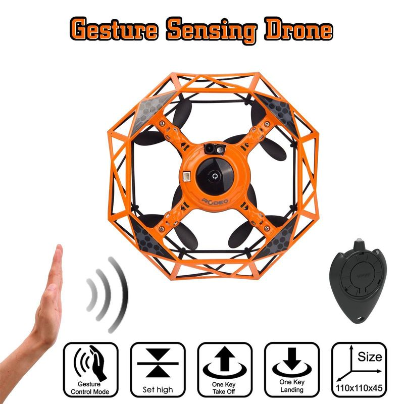 Gesture Sensor Mini Pocket RC Drone Interactive Motion Control Drone Altitude holding One key take off Foldable Selfie Drone