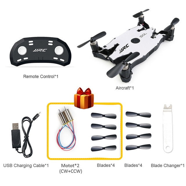 INKPOT Ultrathin Selfie Drone JJRC H49 Wifi FPV 720P Camera Auto Foldable Arm Altitude Hold RC Mini Quadcopter