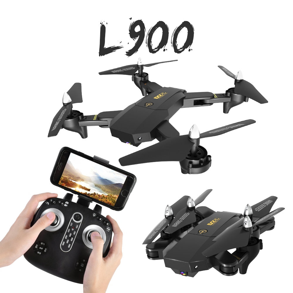 New RC Helicopter Drone with Camera HD 1080P WIFI FPV Selfie Drone Professional Foldable Quadcopter 8-10 Minutes Battery Life