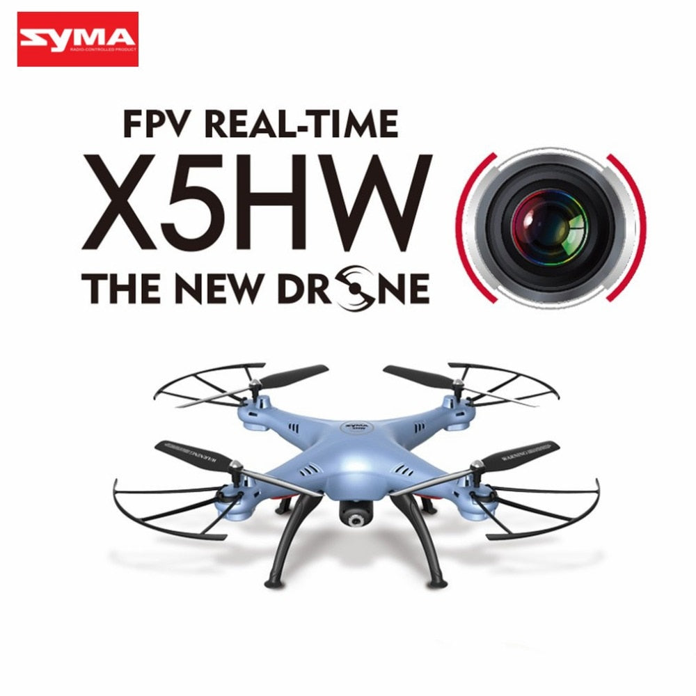 SYMA X5HW RC Drone With Camera HD Wifi FPV Selfie Drones Drone Quadrocopter RC Helicopter Quadcopter RC Dron Toy (X5SW Upgrade)