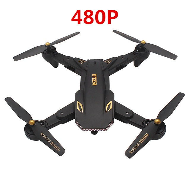 TIANQU VISUO XS809S WiFi FPV HD Camera Drone RC Quadcopter 2.4GHz Foldable Selfie Drone One Key Return Altitude Hold Mini Drone