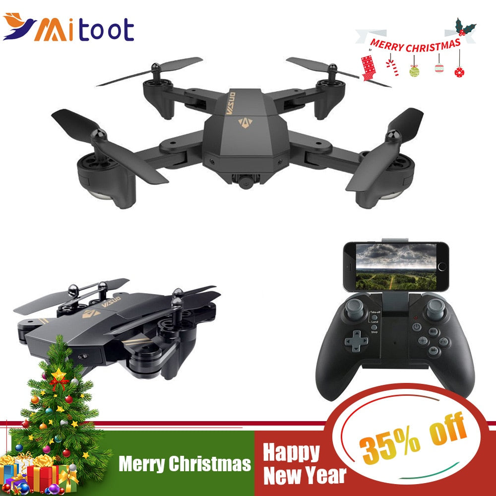 XS809HW XS809W Wifi FPV Drone Foldable Selfie Drone With 0.3MP 2MP HD Camera Altitude Hold Quadcopter