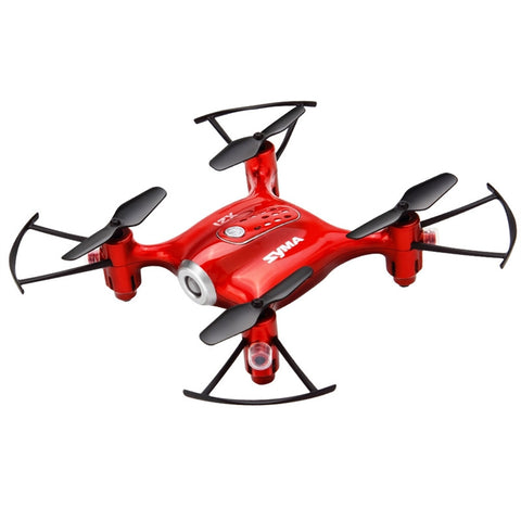 X21 Mini Remote Control Drone 4 Axis Altitude Hold Quadcopter Helicopter English Type (Red)