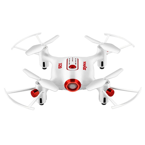 Syma X22 RC Drone FPV Quad Copter with Camera Pocket DroneHeadless Mode 4 Channel Altitude Hold Real Time Transmission Drone for Beginners Outdoor Indoor Playing (White)