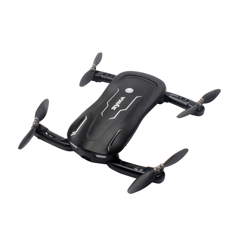 Syma Z1 Quadcopter Wifi FPV RC Drone Optical Positioning Altitude Hold Foldable RC Helicopter Plane (Black)