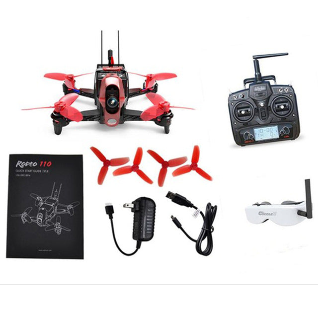 Walkera Mini Rodeo 110 RC FPV 110mm RTF Goggle2 / Goggle4 600TVL Camera DEVO 7 Transmitter Quadcopter Racing Drone