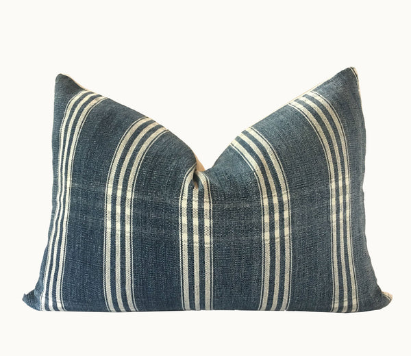 Guatemalan textiles, striped pillow - Lamour Artisans