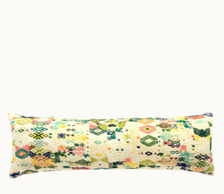 Guatemalan long lumbar pillow, huipil pillow, Colorful boho long lumbar pillow,
