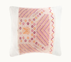 Guatemalan pillow, Huipil pillow, pink shabby chic pillow, pink and white bohemian throw pillow