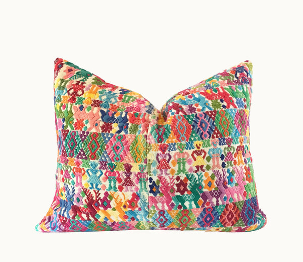 Guatemalan pillow | Huipil pillow | Colorful bohemian pillow | Nursery boho cushion
