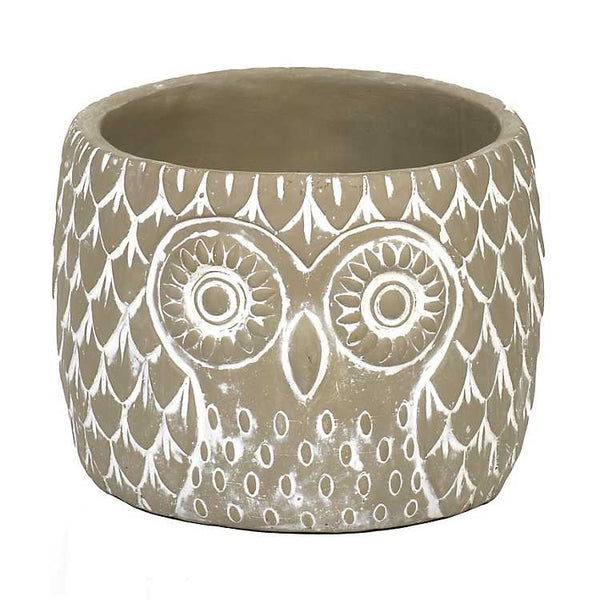 Cement Owl Planter