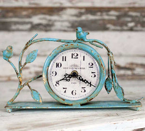 Bluebird Mantle Clock