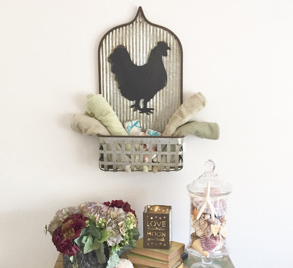 Chicken Basket Wall Display