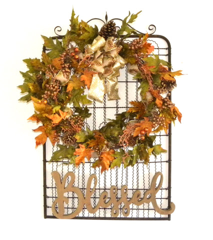 Fall & Christmas Gate Wreath
