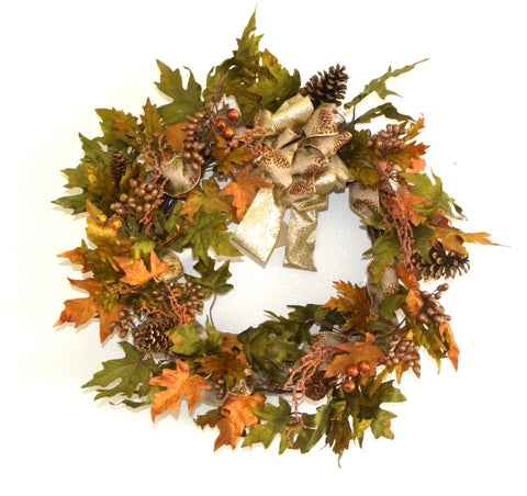 Berry Pinecone Wreath