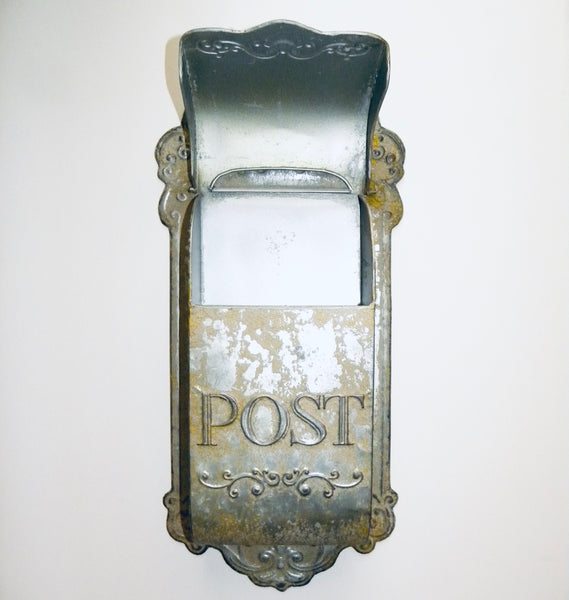 Silver Post Antique Style Mailbox