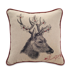 Pinecone Deer Pillow