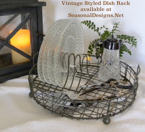 Vintage Dish Display