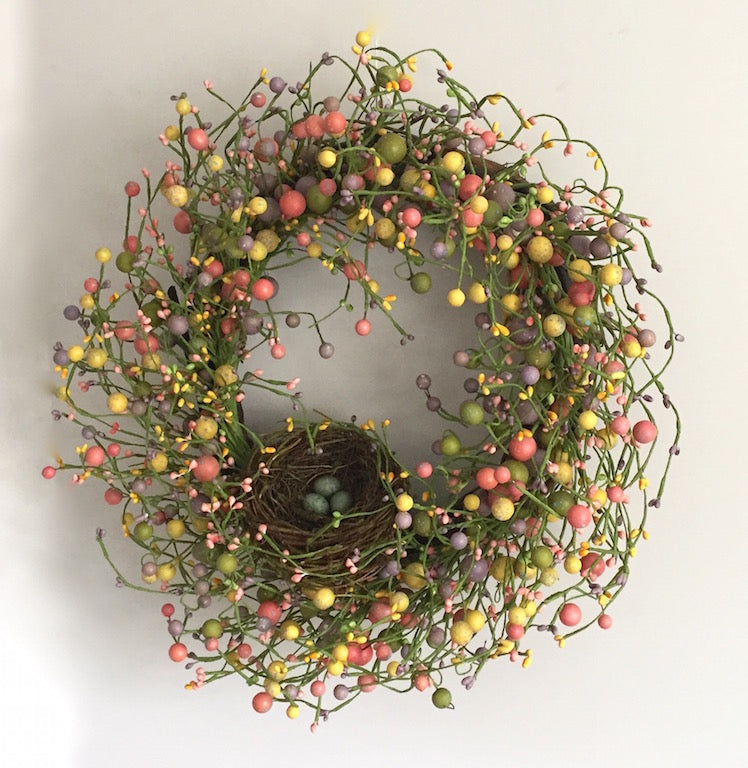 Easter Eggs Nest Wreath