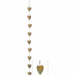 Heart of Gold Rain Chain