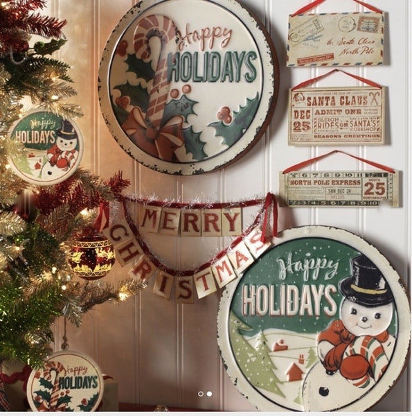 Happy Holiday Signs Set 2