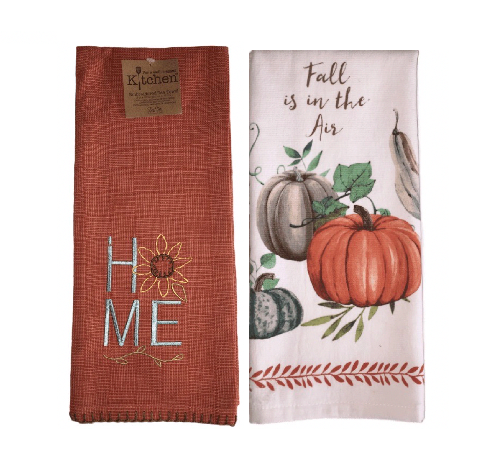 Home & Fall Pumpkin Towel Set