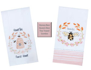 Bee Inspired Flour Sack & Terry Towel Set/2
