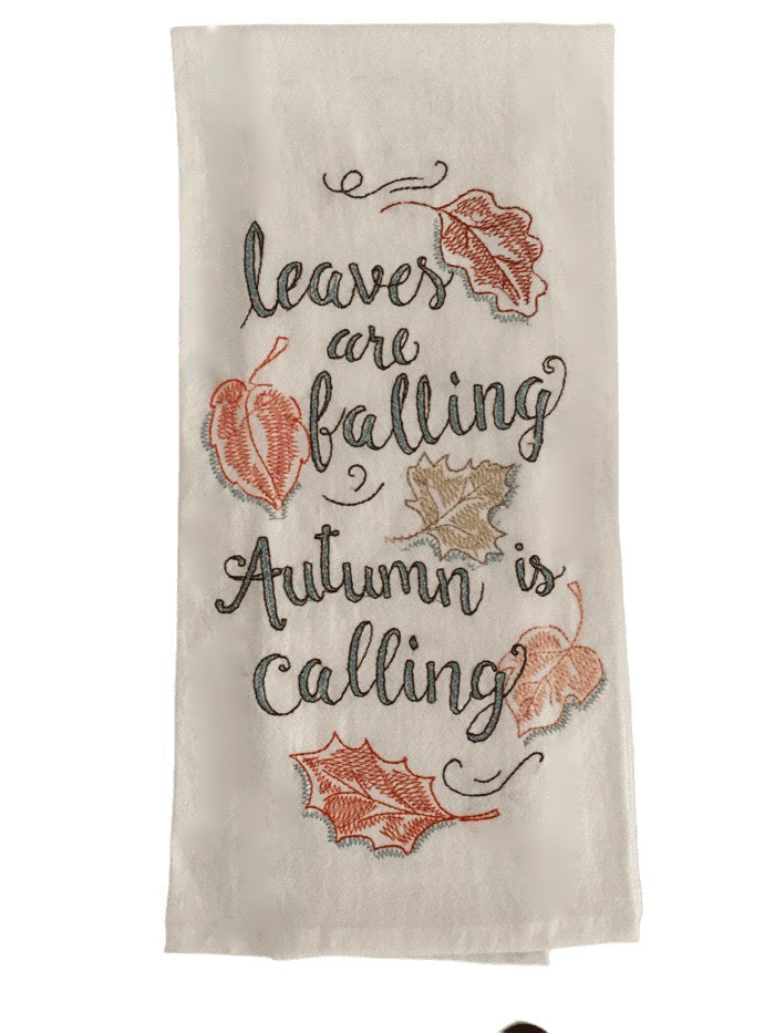 Leaves are Falling Flour Sack Towel