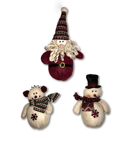 Country Glitter Ornament Set/3
