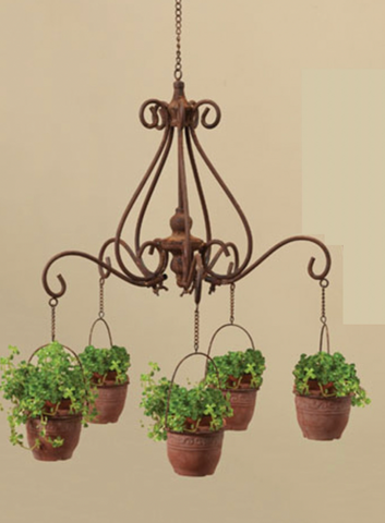 Ivy Chandelier Planter with Fire Pots