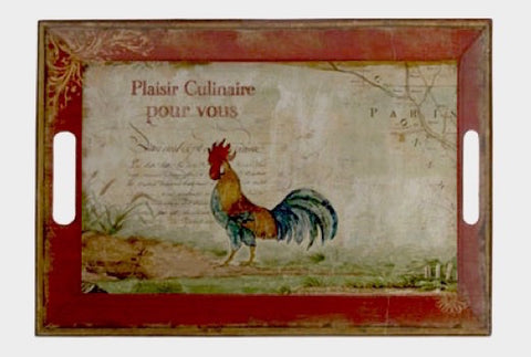 La Ferme Red Rooster Tray